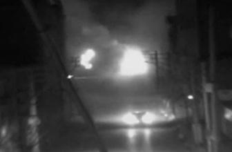 Zırhlı aracın geçişi sırasında patlama