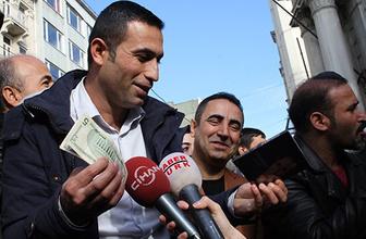 Beyoğlu'nda dolar dağıttı izdiham çıktı