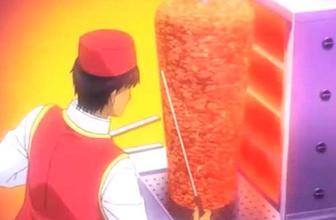 Japon çizgi filminde 'Döner' sahnesi sanal alemi salladı