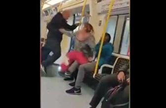 Metrodaki turiste ırkçı saldırı hayrete düşürdü