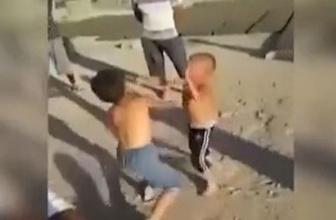 Çocukları böyle dövüştürdüler!