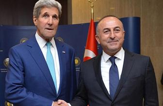 Çavuşoğlu, Kerry ile Musul ve Rakka'yı görüştü