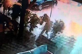 Adana'daki patlama anı kamerada!
