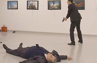Rusya büyükelçisi vurulma anı görüntüleri dehşet!