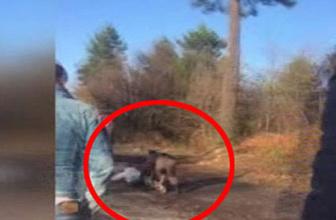 Babasının boğazını kesti inanılmaz video