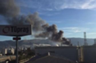 TÜPRAŞ rafinerisinde yangın müdahale ediliyor