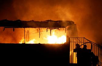 Osmaniye'de fabrika yangını