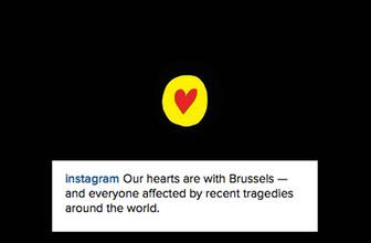 Instagrama tepkinizi gösterin Brüksel var Ankara yok!
