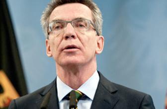 Alman İçişleri Bakanı Maiziere'den Türkiye'ye övgü
