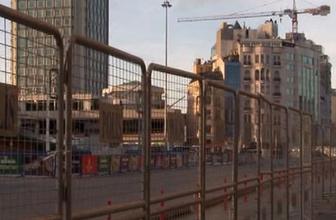 Taksim'e çıkan yollar 1 Mayıs sebebiyle kapatıldı