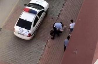 Trafik polisinin sert müdahalesi görüntülendi!