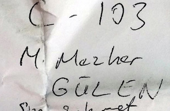 Gülen'in yeğenine giden notta bakın ne yazıyordu