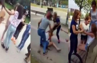 Bursa'da tekme tokat kız kavgası