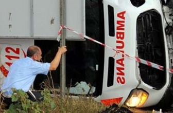 Tekirdağ'da ambulans devrildi: 1 ölü 3 yaralı