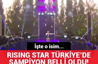 Rising Star Türkiye'de şampiyon belli oldu!