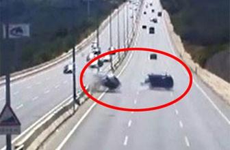 Akılalmaz kaza: Boş yolda dehşet saçtı!