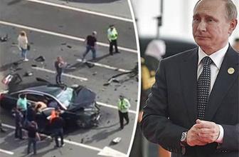 Putin'in makam aracı paramparça oldu, şoförü öldü