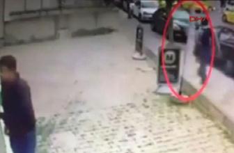 Ataşehir'de kadına yumruklu saldırı güvenlik kamerasında...