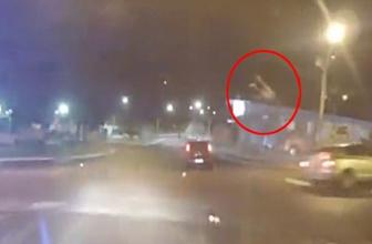 Polisten kaçan motosikletli havaya uçtu!
