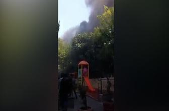Haseki Hastanesi'nde büyük yangın! Ekipler olay yerinde