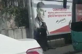 Atatürk fotoğrafını böyle temizledi!