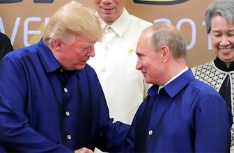 Putin ve Trump'tan samimi görüntüler!