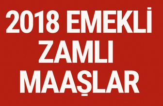 Emekli zammı 2018 ne kadar SSK - bağkur yeni zamlı maaşlar