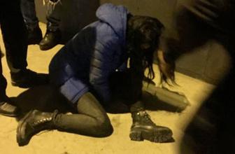 Sokak ortasında astım krizine giren kadının zor anları