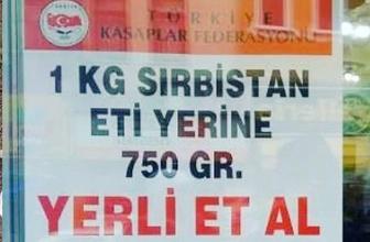 Yerli et ucuz ete karşı! Sırp eti yerine kasap eti kampanyası
