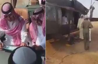 Suudi prens ve heyetinin öldüğü helikopter kazasından hemen önce