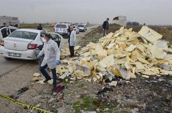 Adana'da yakılmış erkek cesedi bulundu
