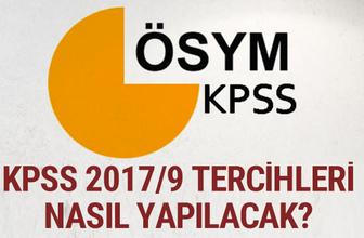 KPSS 2017/9 tercihler nasıl yapılacak e devlet başvuru ekranı