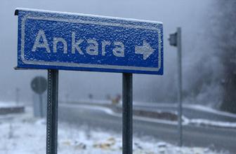 Ankara hava durumu kötü kar yağışı için alarm