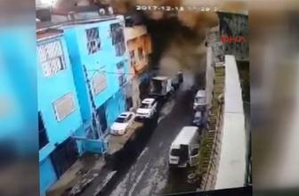 Sanki roket düştü! Gaziosmanpaşa'daki patla anı kamerada