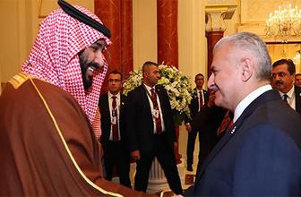 Başbakan Yıldırım'dan sürpriz veliaht prens açıklaması