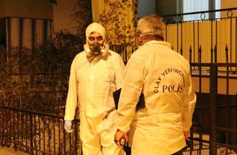Polis gaz maskesiyle daireye girebildi