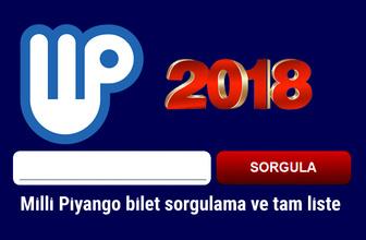 Milli Piyango 2018 bilet sorgulama ekranı