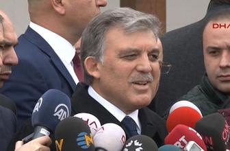 Abdullah Gül, Cumhurbaşkanı Erdoğan'ın eleştirilerine yanıt verdi