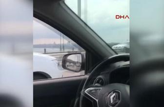 Köprü'den geçerken koltuğu boş bırakan sürücü yakalandı