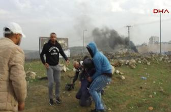 İsrail askerleri tarafından gazetecinin vurulma anı