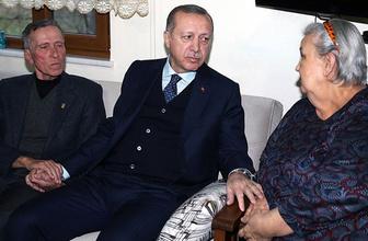Erdoğan'dan şehit ailesine ziyaret