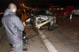 Adana'da zincirleme trafik kazası: 16 yaralı