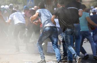 İsrail polisi Filistinliler'e saldırdı! Büyük gerginlik