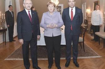 Merkel CHP lideri Kılıçdaroğlu ile bir araya geldi!