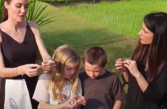 Angelina Jolie, Kamboçya'da akrep ve örümcek yedi!