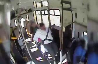 Yolcu otobüsü duran trene çarptı