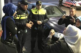 Hollanda polisinin konvoyu durdurma görüntüleri TRT ve AA ekibi sınırdışı