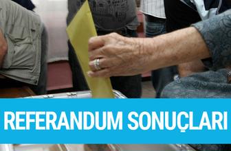 Konya referandum sonuçları 2017 seçimi evet hayır oyları