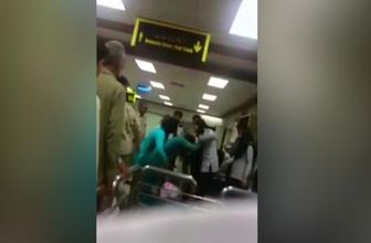 Kadın yolcu havalimanı güvenliği tarafından dövüldü