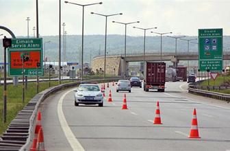 TEM'in İstanbul yönü 20 gün ulaşıma kapandı